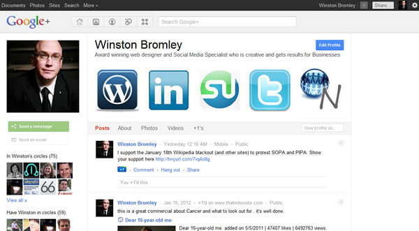 Google + Winston Bromley Why Google+ Matters for businesses